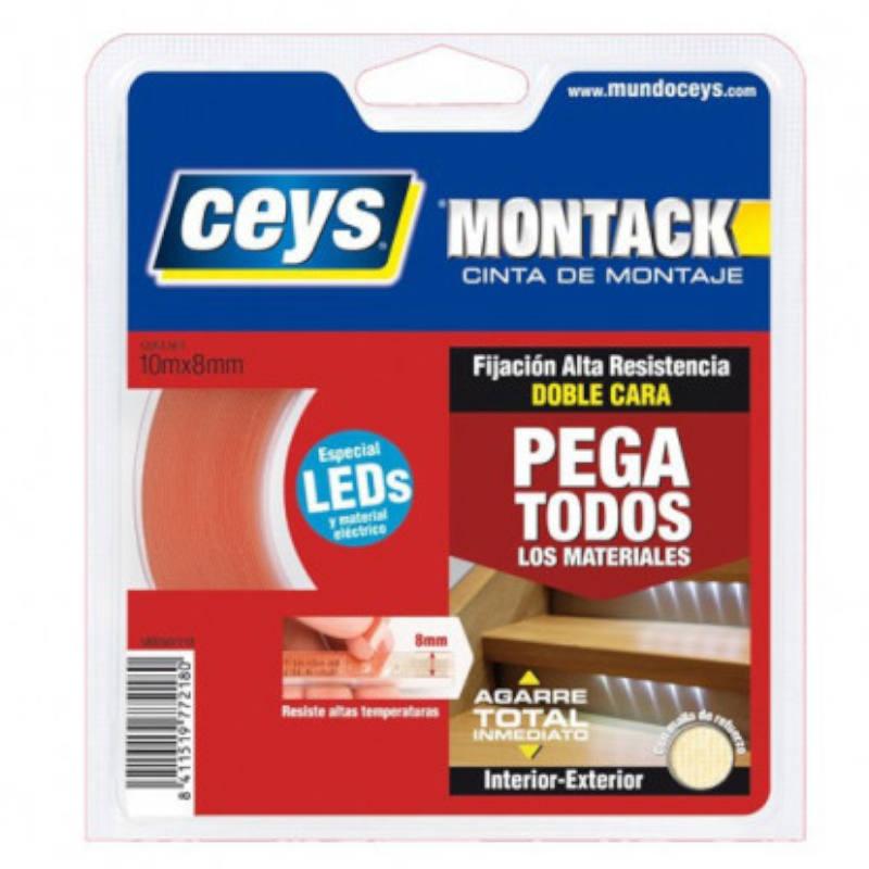 CINTA DOBLE CARA MONTACK ESPECIAL LED CEYS