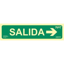SEÑAL SALIDA + FLECHA DERECHA