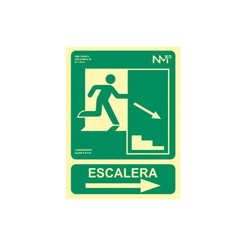 SEÑAL ESCALERA FECHA DERECHA