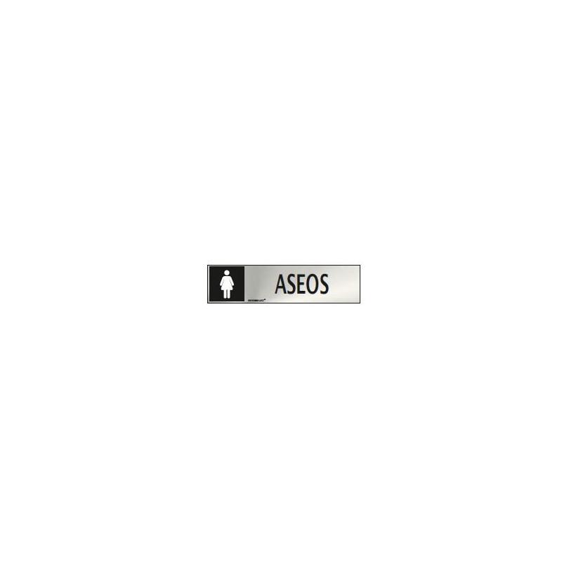SEÑAL INFORMATIVA ASEOS MUJER 200X50