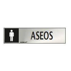 SEÑAL INFORMATIVA ASEOS HOMBRE 20X5