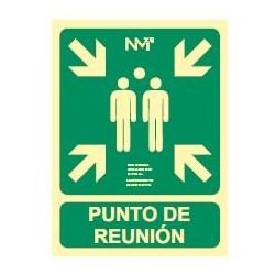 SEÑAL LUMINISCENTE PUNTO DE REUNION 224X300