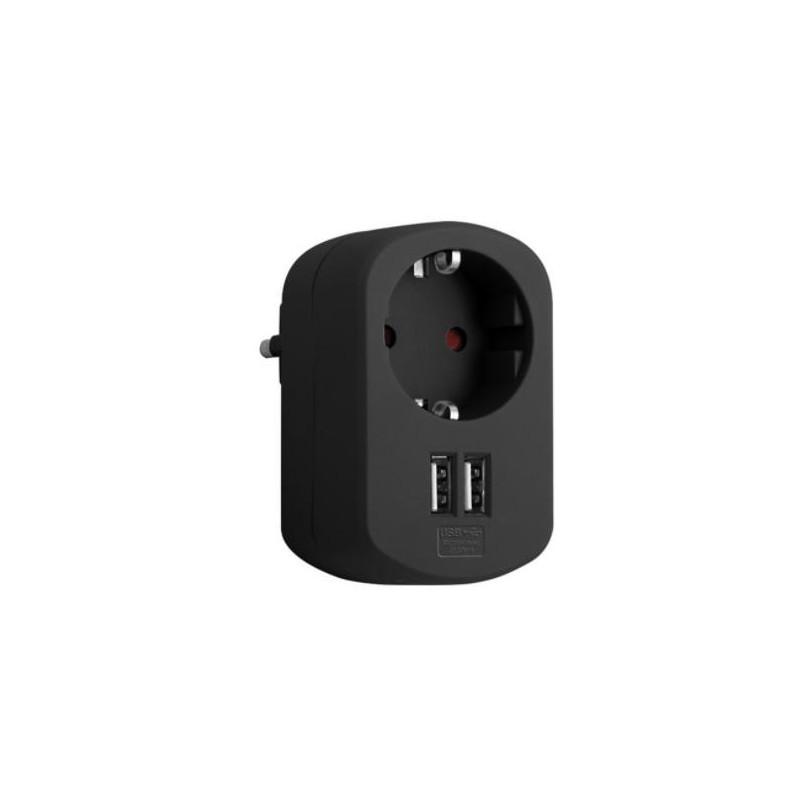 ADAPTADOR COMBI 1 TOMA 16A 250V + 2 USB
