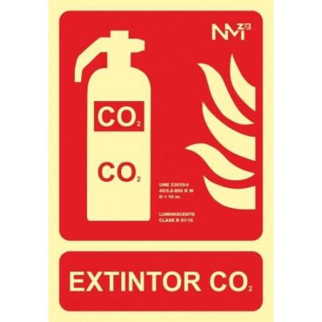 SEÑAL LUMINOSA EXTINTOR CO2