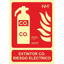 SEÑAL LUMINOSA EXTINTOR CO2