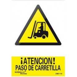 SEÑAL PELIGRO PASO DE CARRETILLA
