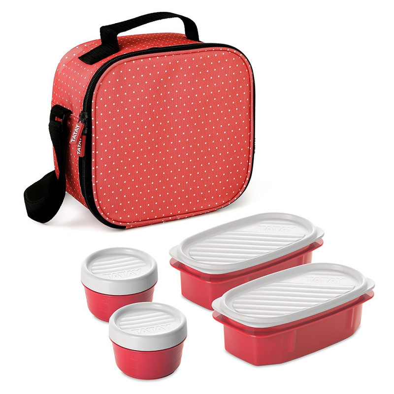 BOLSA NEVERA KIT URBAN FOOD DOTS ROJO FRESA TATAY