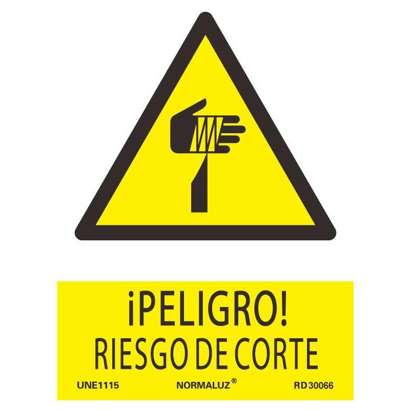 SEÑAL PELIGRO RIESGO CORTE