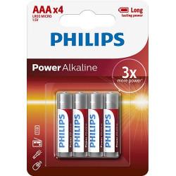 PILA ALCALINA PHILIPS LR03 AAA 4UNIDADES