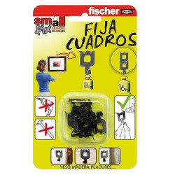 BLISTER FIJACUADROS FISCHER - BLANCO O NEGRO