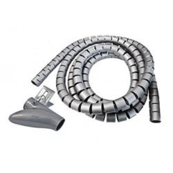 ORGANIZADOR CABLES CON CLIP 25mm HEPOLUZ