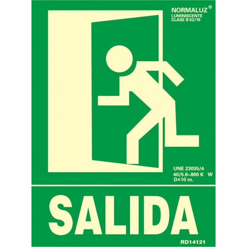 SEÑAL LUMINISCENTE SALIDA IZQUIERDA