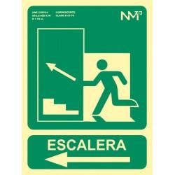 SEÑAL ESCALERA FLECHA IZQUIERDA SUBIDA