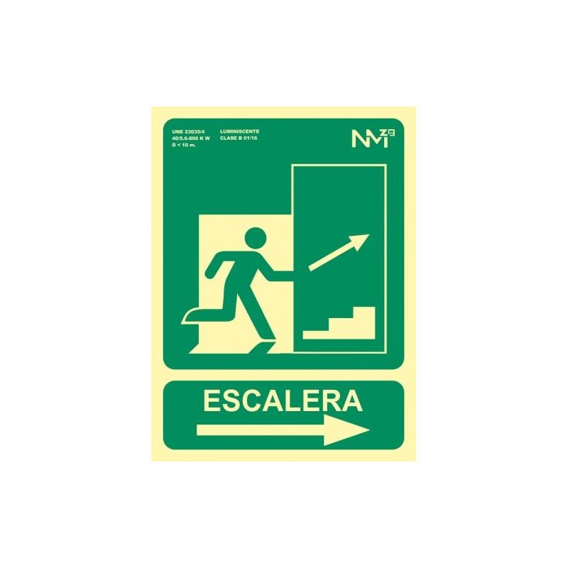 SEÑAL ESCALERA FLECHA DERECHA SUBIDA