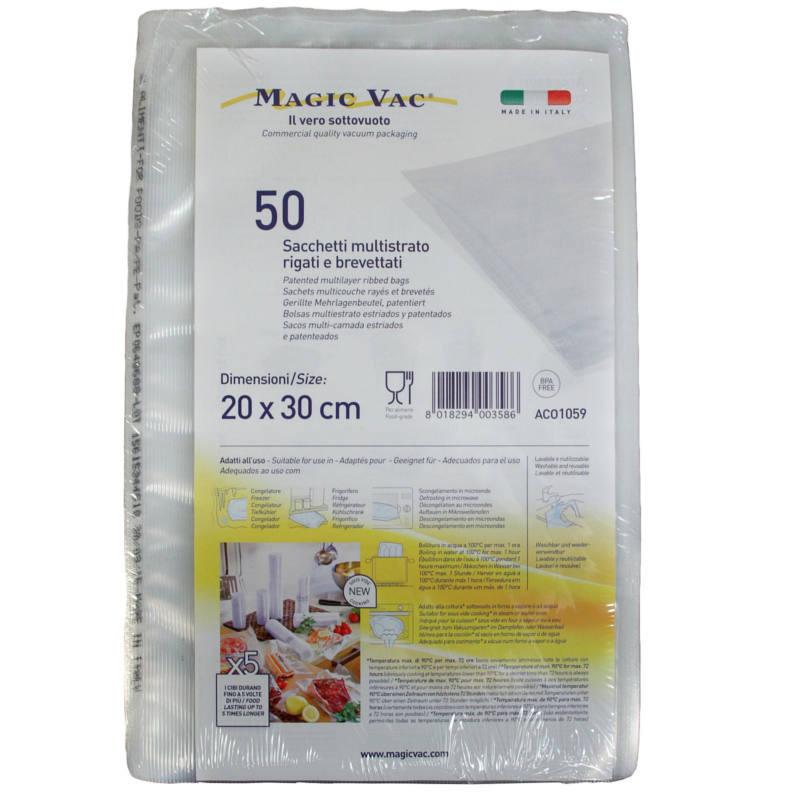 PAQUETE 50 BOLSAS MAGIC-VAC 20X30 CM GARHE