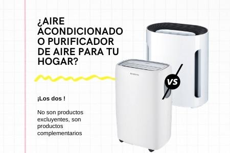 Diferencias entre el aire acondicionado y purificadores de aire para el hogar